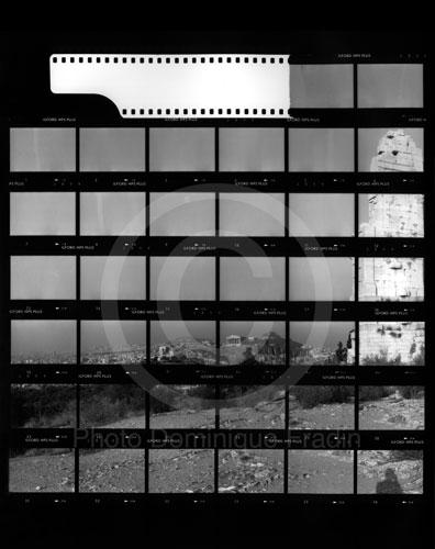 Vue de l'Acropole. Athènes, 1989.