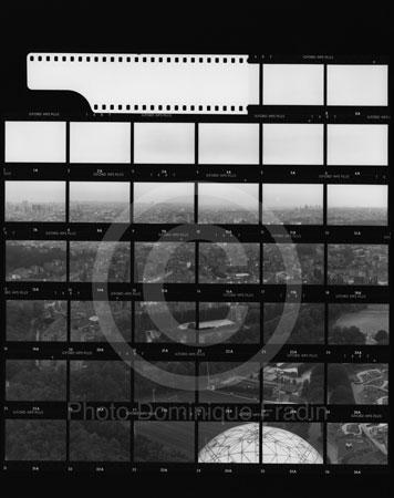 Vue depuis l'Atomium. Bruxelles, 1989.