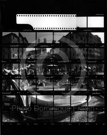 La Place d'Espagne. Rome, 1989.