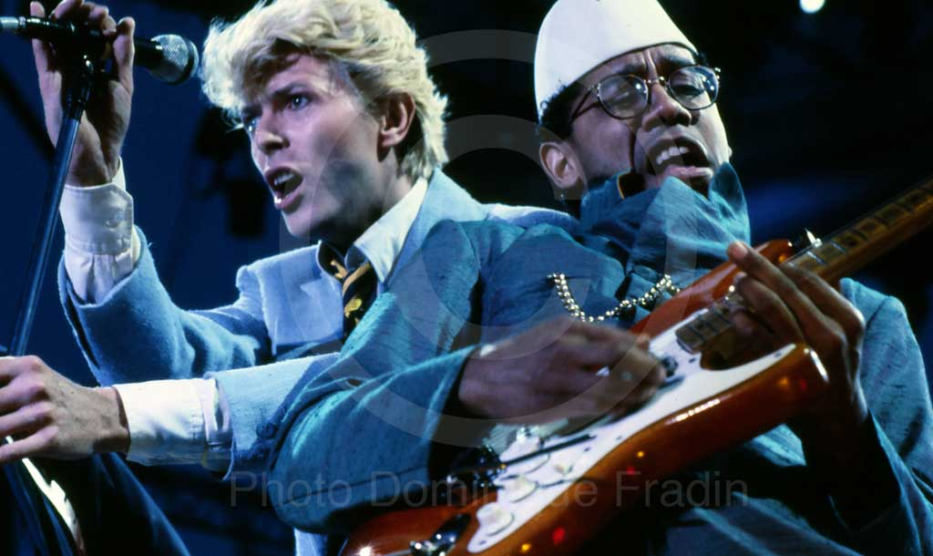 David Bowie et Carlos Alomar. Fréjus, 1984.