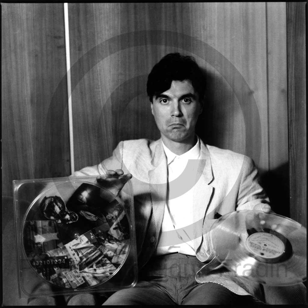 David Byrne. Rome, 1982.