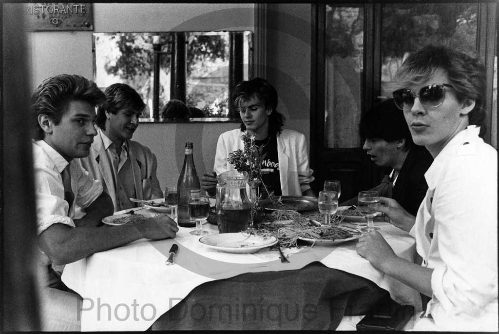 Duran Duran. Rome, 1983.