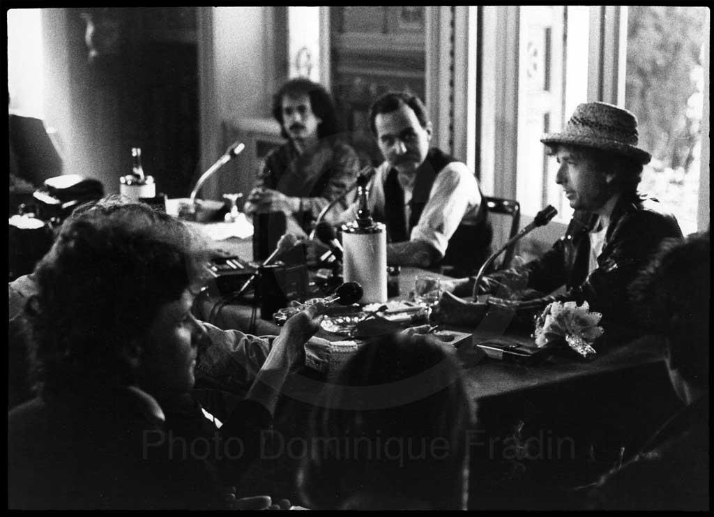Bob Dylan. Hôtel Villa Cortine, Sermione, 1985.