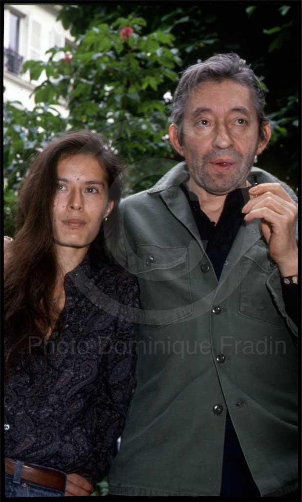 Serge Gainsbourg et Bambou. Paris, 1989.