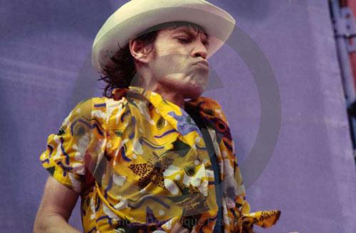 Mick Jagger, Rolling Stones. Turin, 11 juillet 1982.