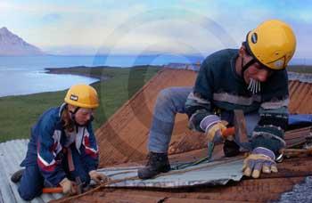 Faskrudsfjordur : Le chantier.